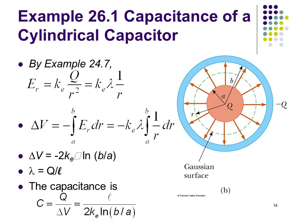 Example 26.1 Capacitance of a Cylindrical Capacitor
