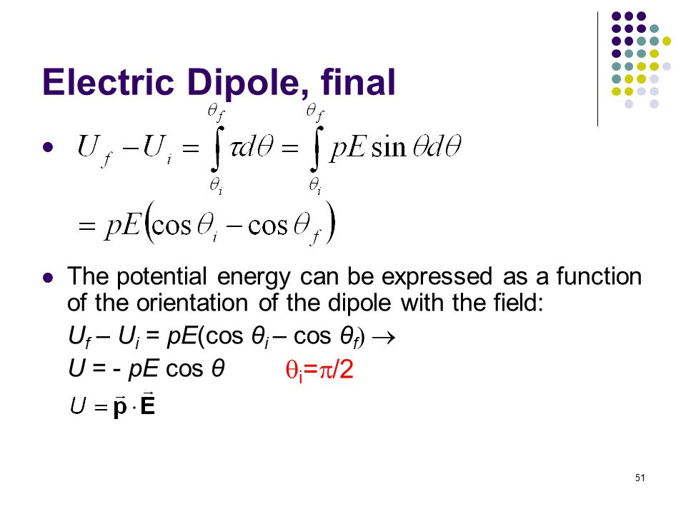 Electric Dipole, final i=/2