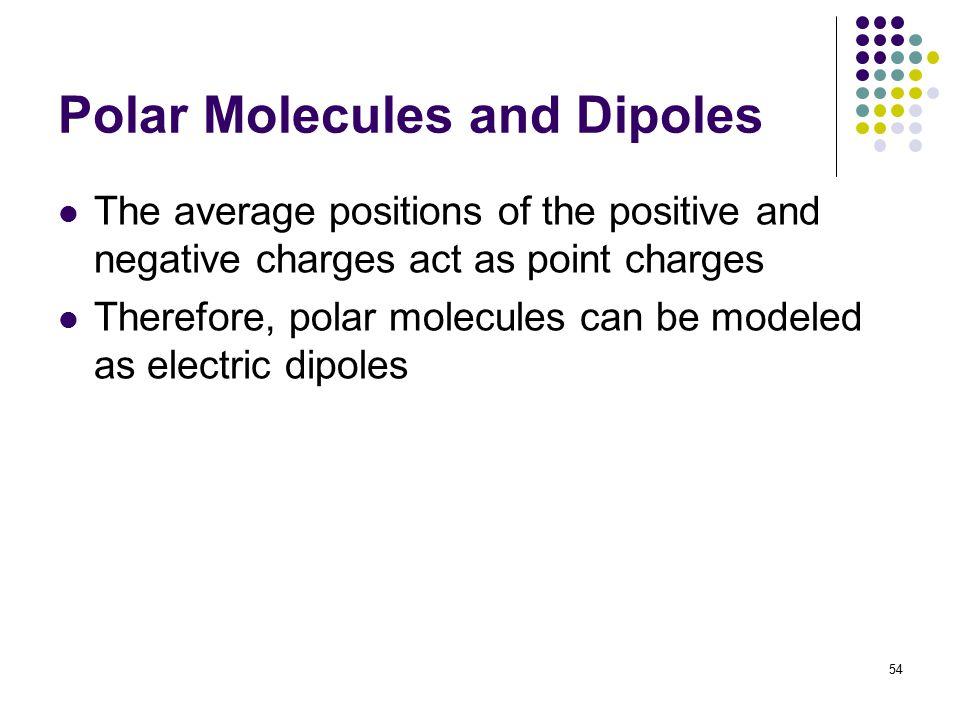 Polar Molecules and Dipoles