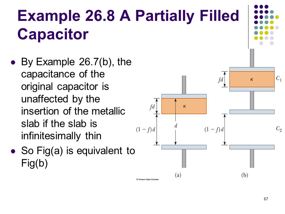 Example 26.8 A Partially Filled Capacitor