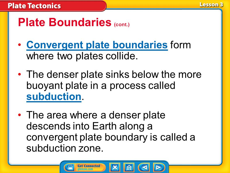Plate Boundaries (cont.)