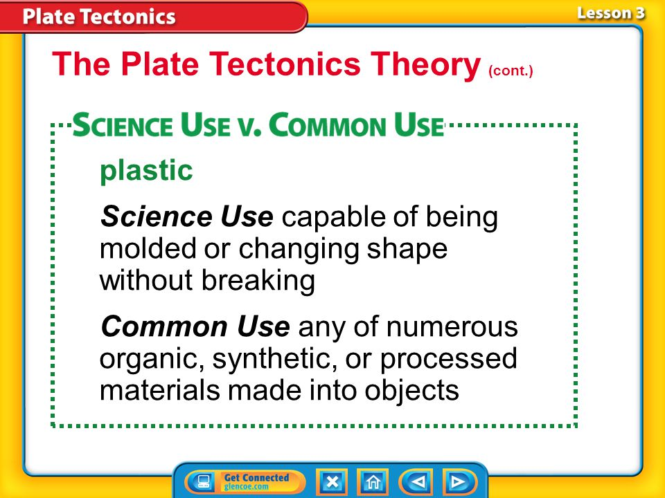 The Plate Tectonics Theory (cont.)