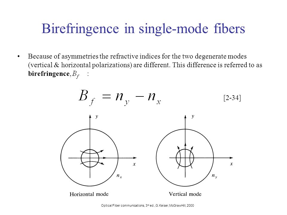 Birefringence in single-mode fibers