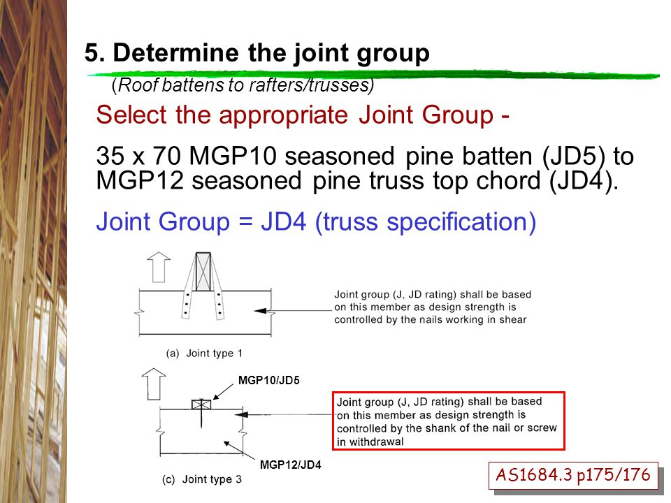5. Determine the joint group