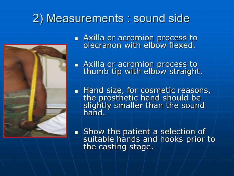2) Measurements : sound side