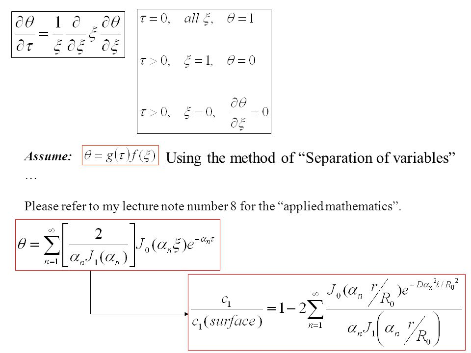 Using the method of Separation of variables