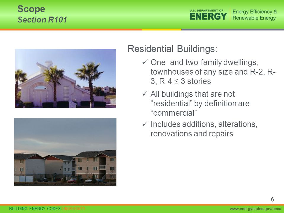 Residential Buildings:
