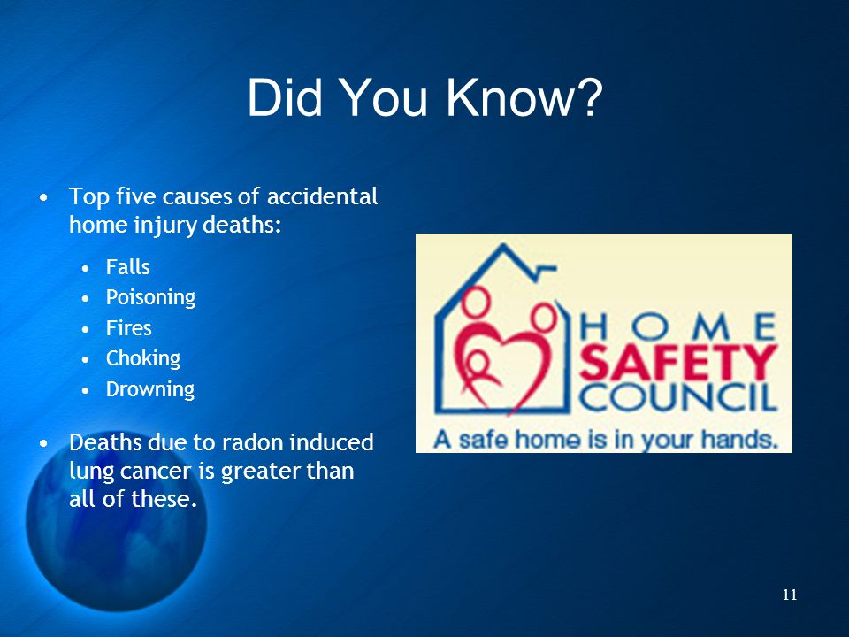 Did You Know Top five causes of accidental home injury deaths: