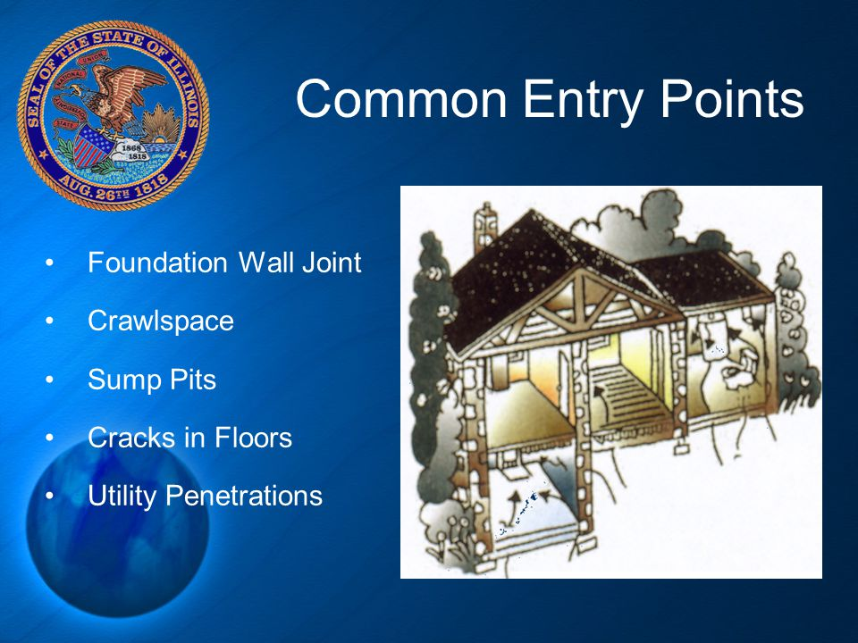 Common Entry Points Foundation Wall Joint Crawlspace Sump Pits