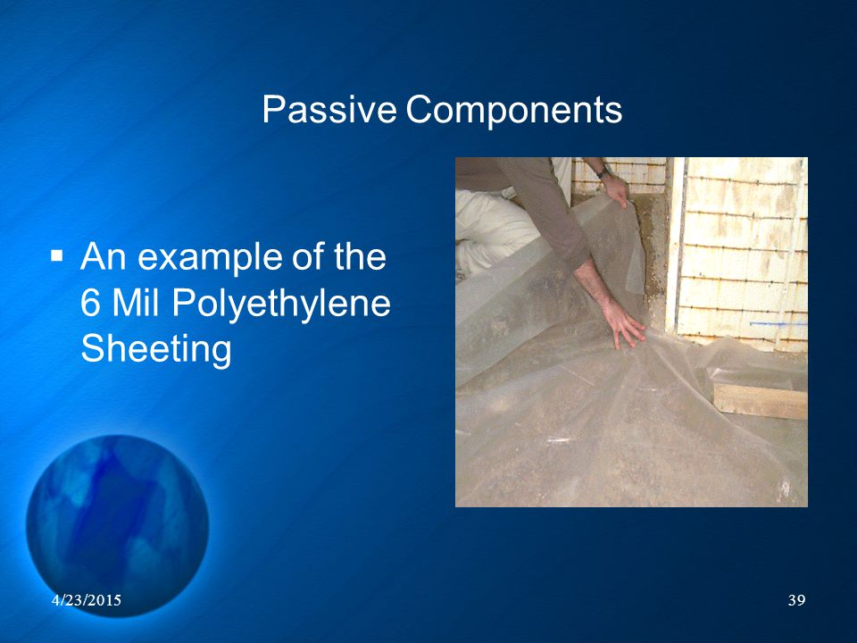 An example of the 6 Mil Polyethylene Sheeting