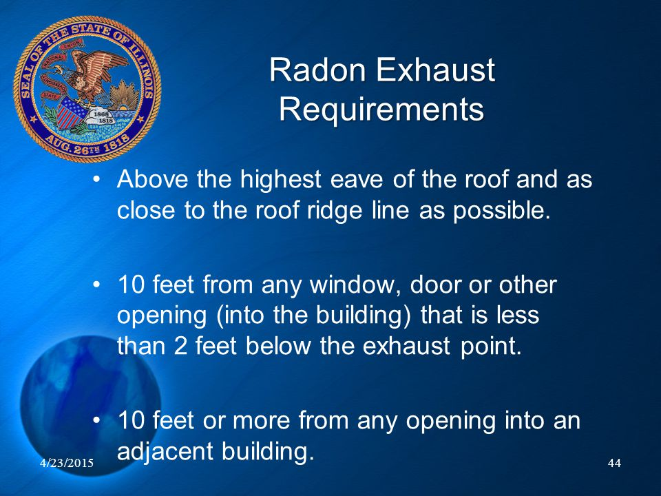 Radon Exhaust Requirements