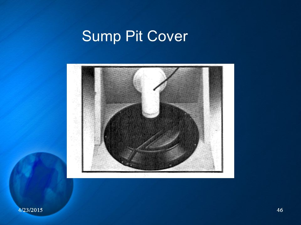 Sump Pit Cover 4/12/2017