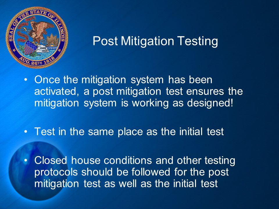 Post Mitigation Testing