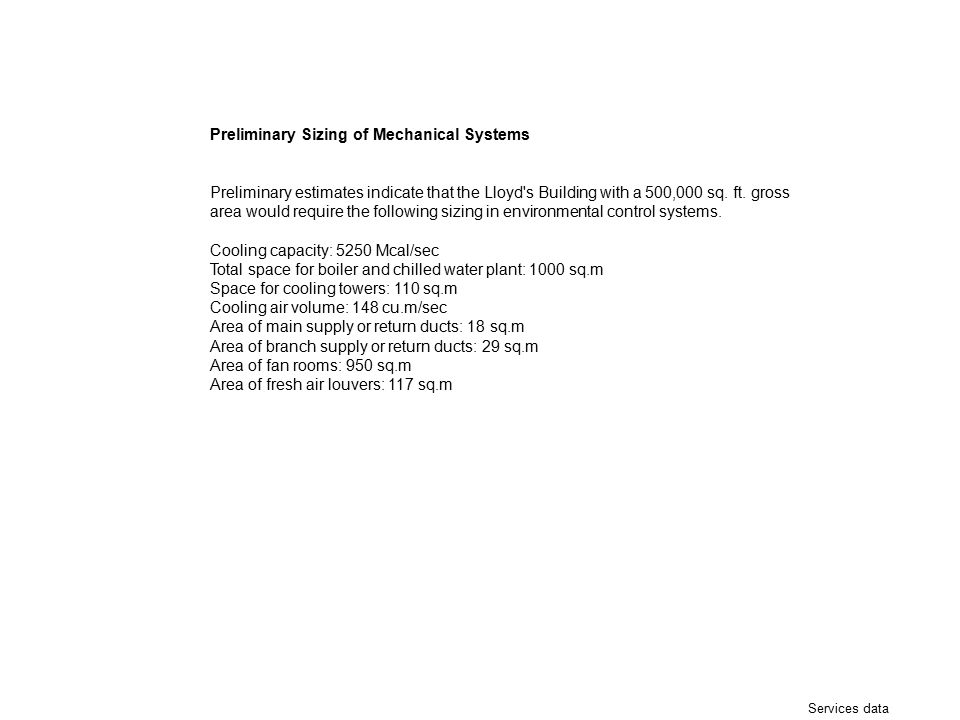 Preliminary Sizing of Mechanical Systems
