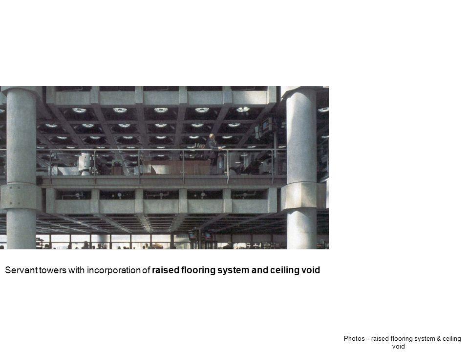 Photos – raised flooring system & ceiling void