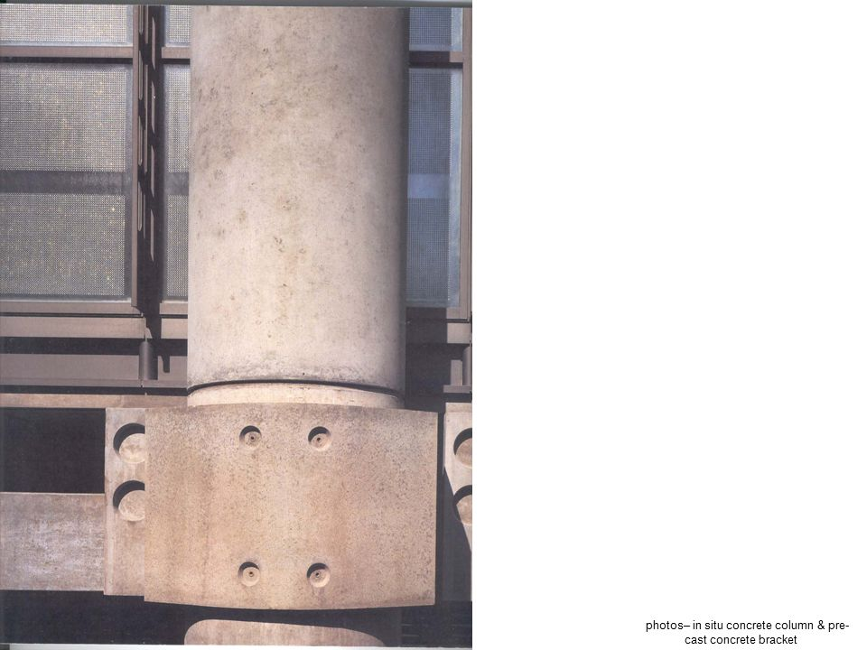 photos– in situ concrete column & pre-cast concrete bracket