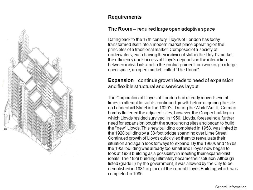 The Room – required large open adaptive space