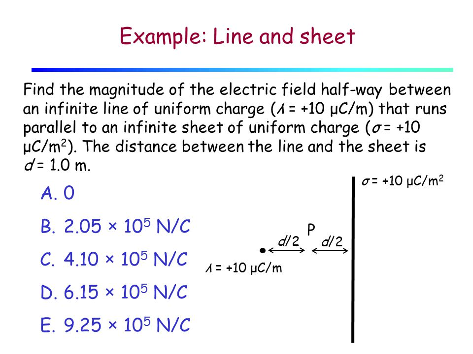 Example: Line and sheet