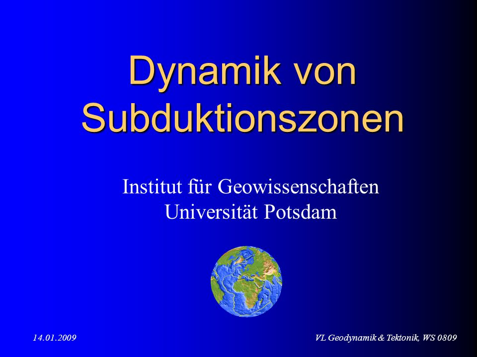 Dynamik von Subduktionszonen