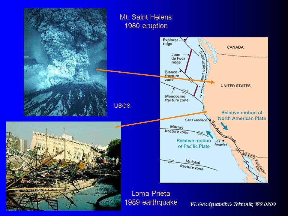 Mt. Saint Helens 1980 eruption USGS Loma Prieta 1989 earthquake
