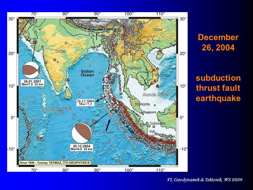 subductionthrust fault earthquake