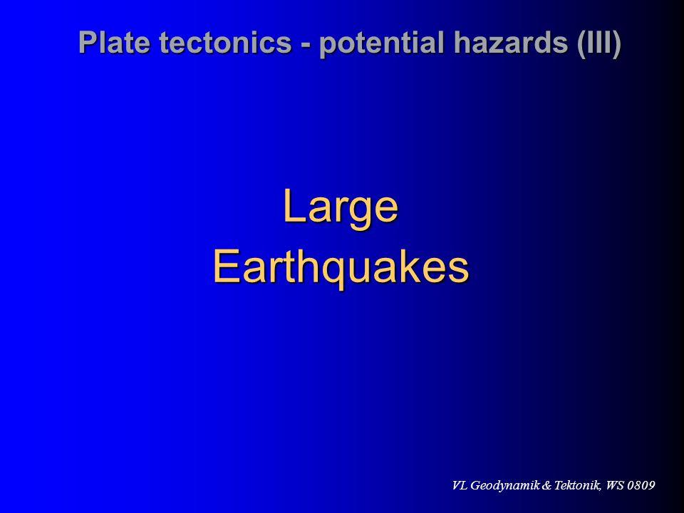 Plate tectonics - potential hazards (III)