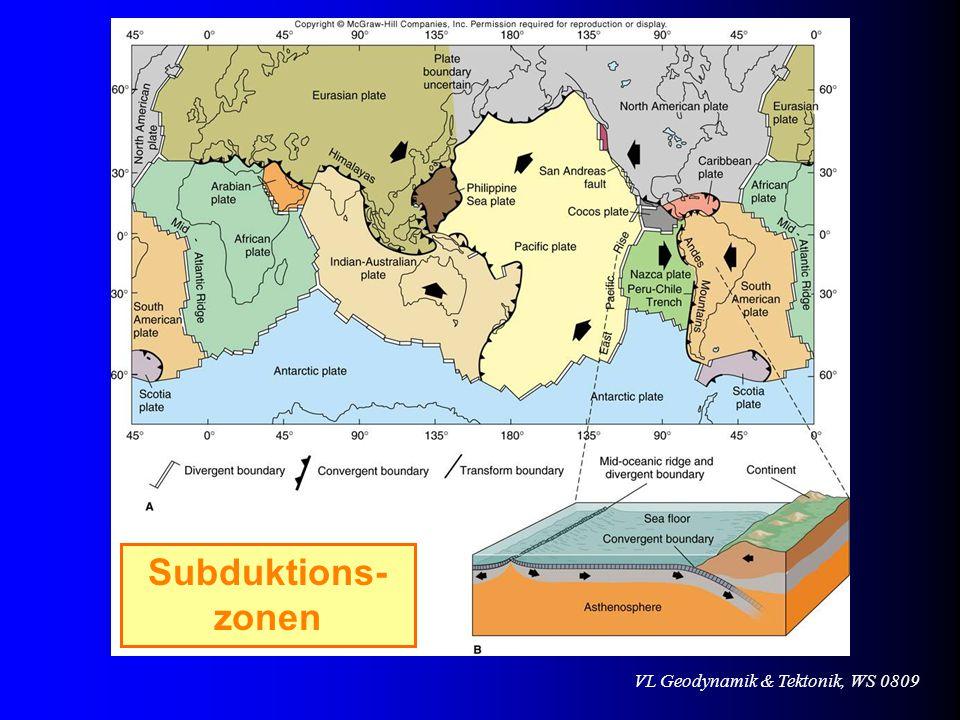 Subduktions- zonen