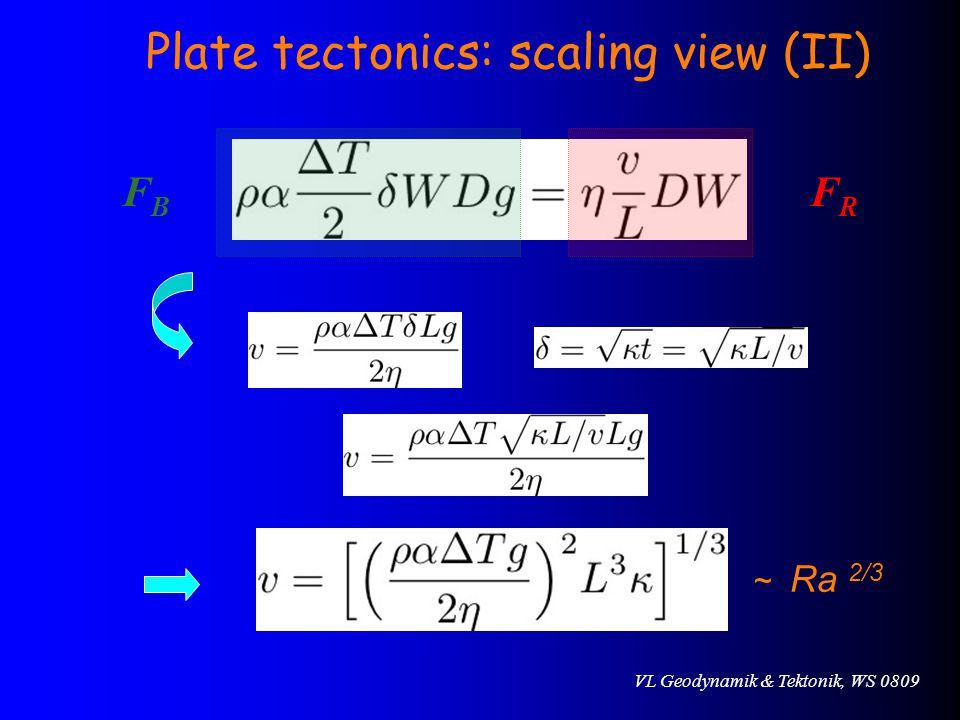 Plate tectonics: scaling view (II)
