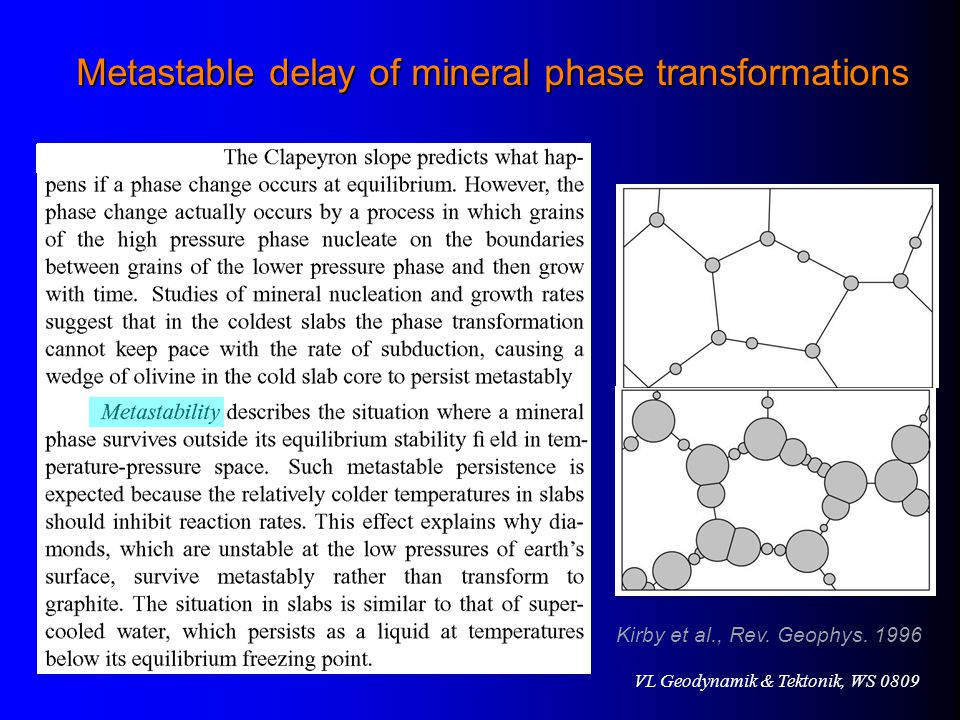 Metastable delay of mineral phase transformations