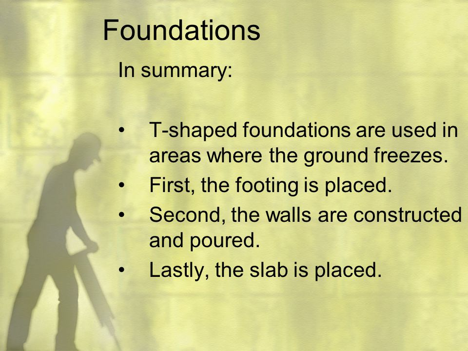 Foundations In summary: