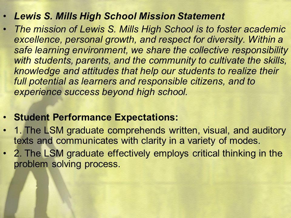 Lewis S. Mills High School Mission Statement
