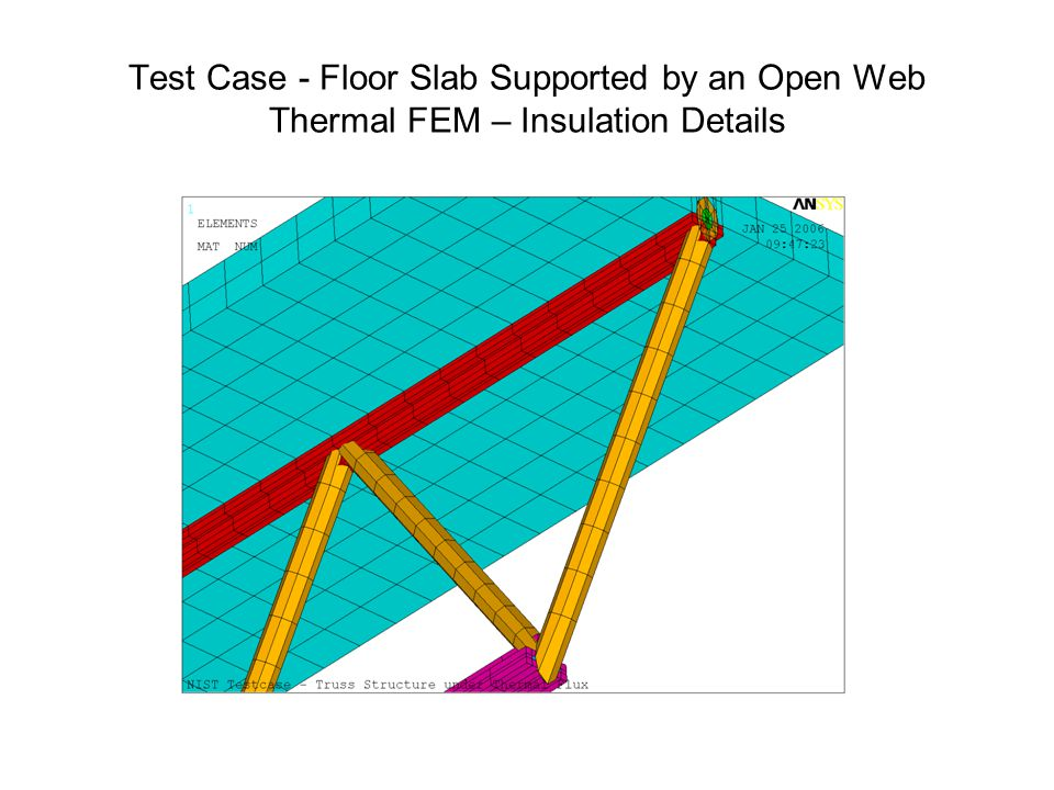 Test Case - Floor Slab Supported by an Open Web Thermal FEM – Insulation Details