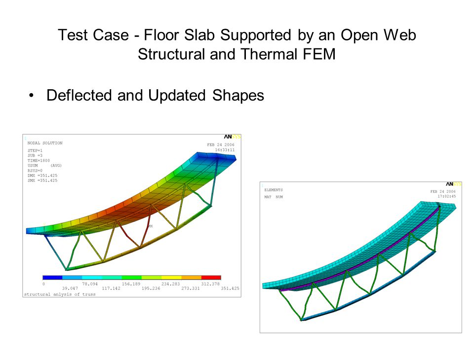Test Case - Floor Slab Supported by an Open Web Structural and Thermal FEM