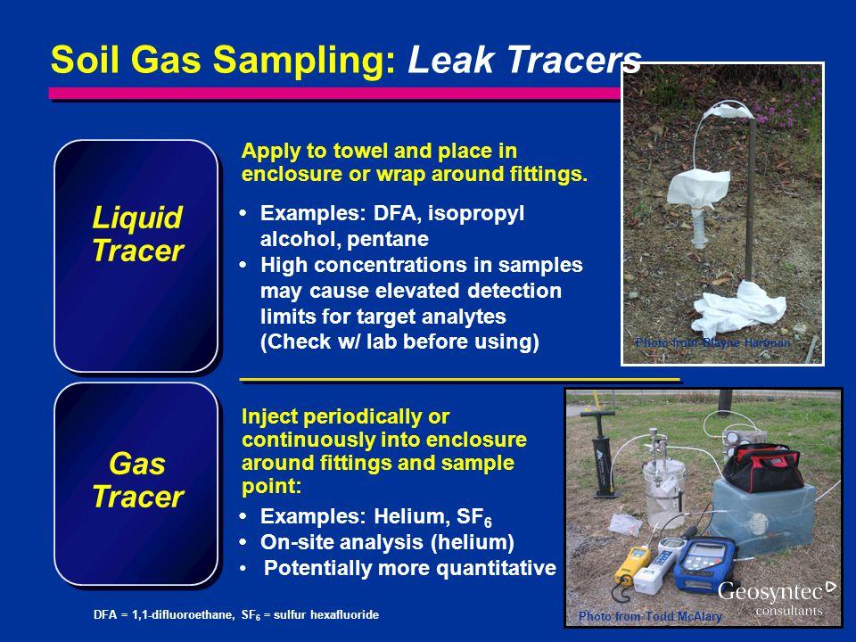 Soil Gas Sampling: Leak Tracers