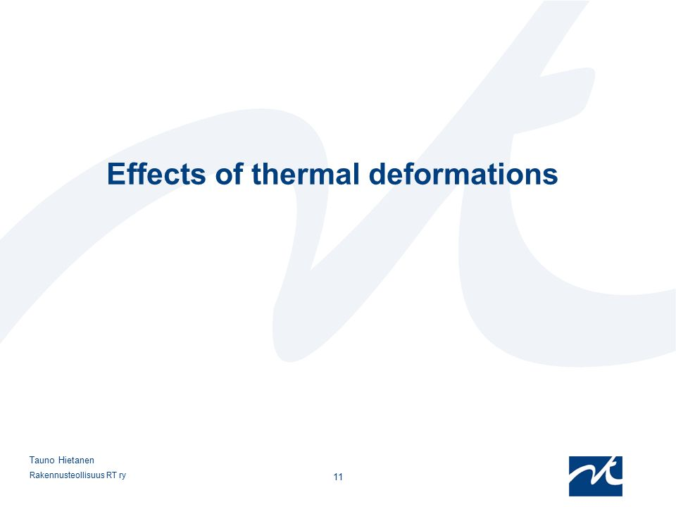 Effects of thermal deformations