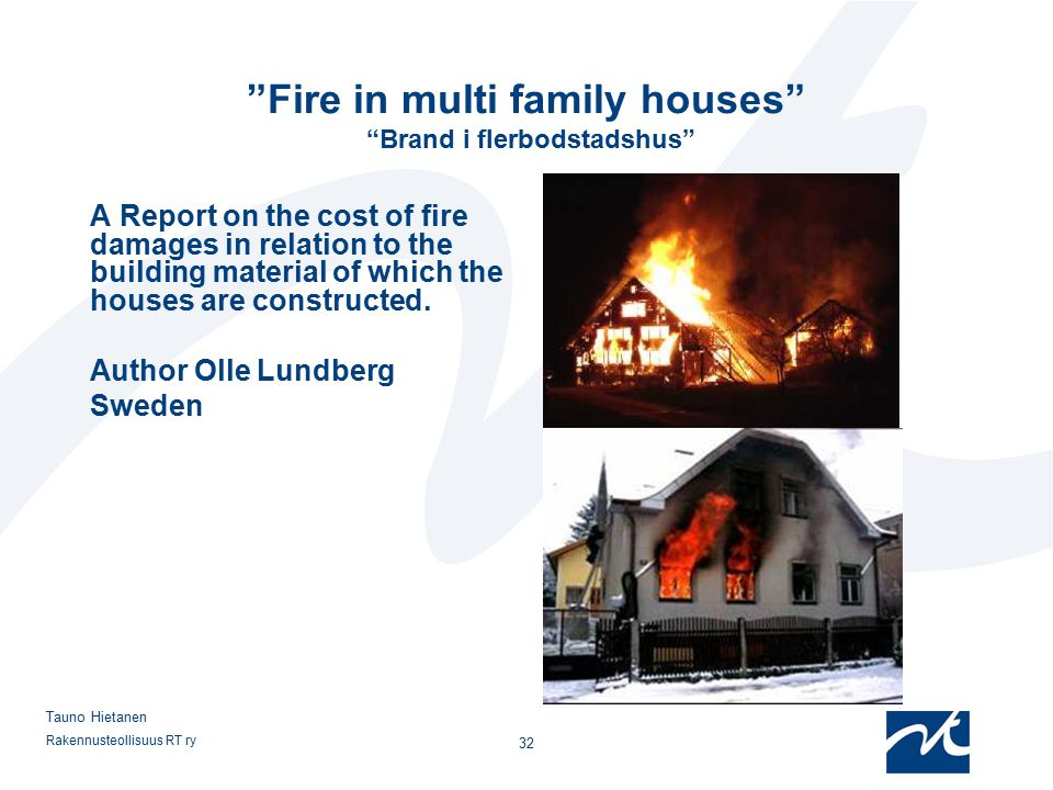 Fire safety with concrete experiences from real fires for Cost of building a multi family house