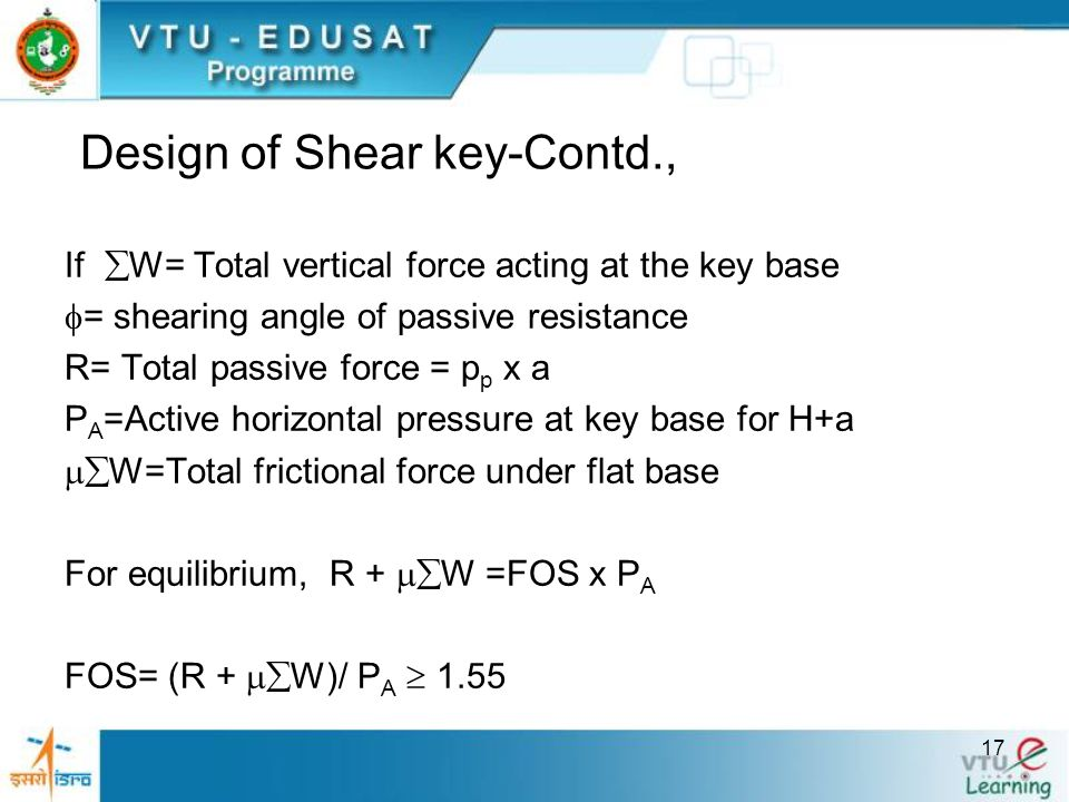 Design of Shear key-Contd.,