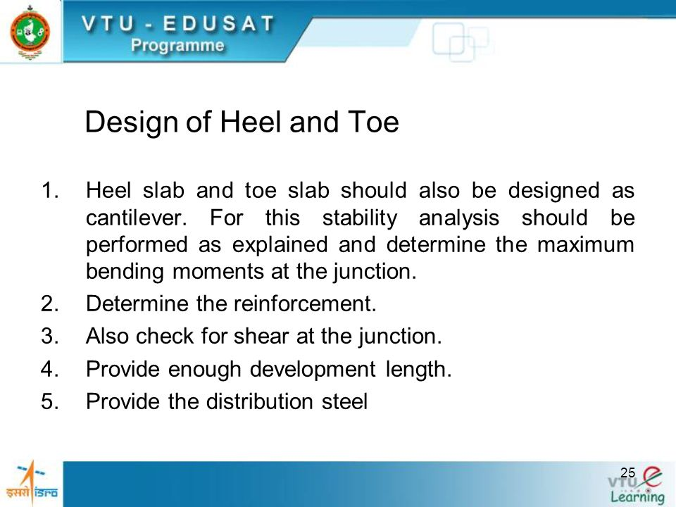 Design of Heel and Toe