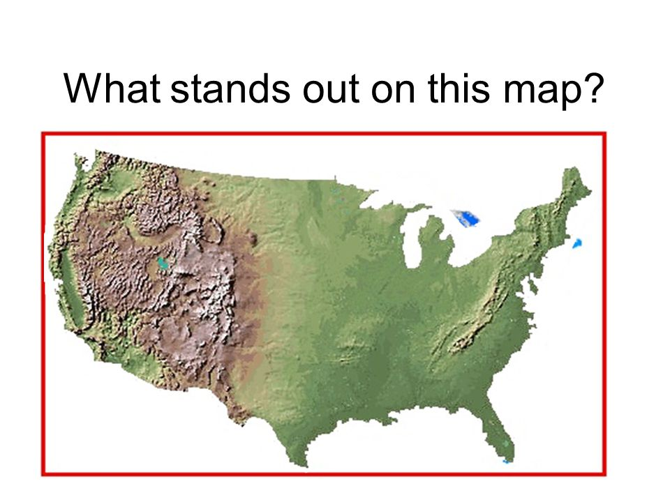 What stands out on this map
