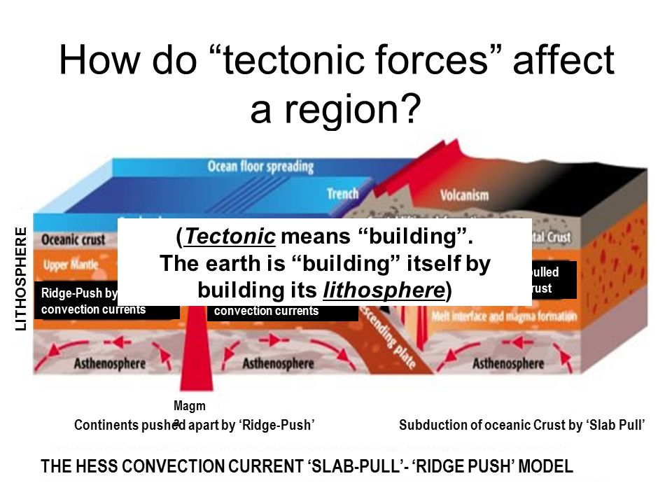 How do tectonic forces affect a region
