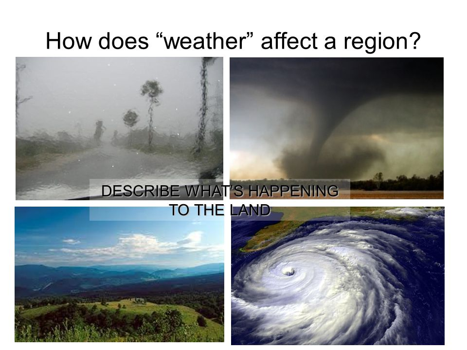 How does weather affect a region