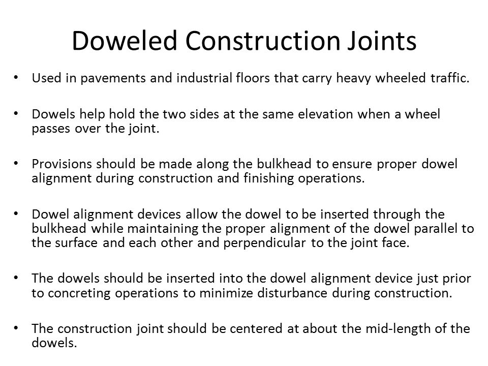 Doweled Construction Joints