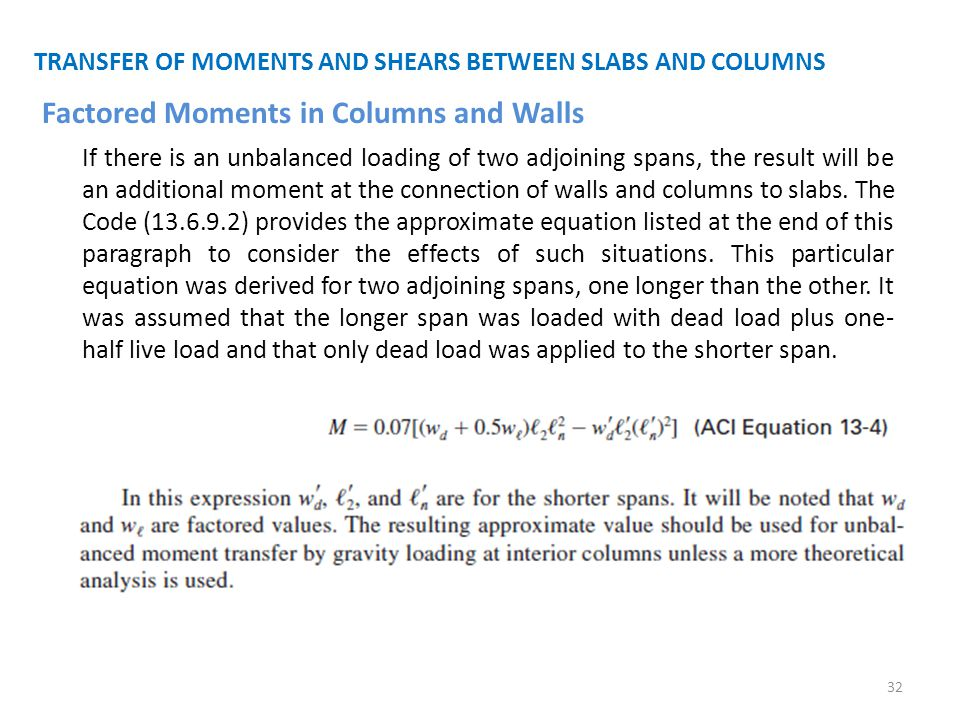 Factored Moments in Columns and Walls