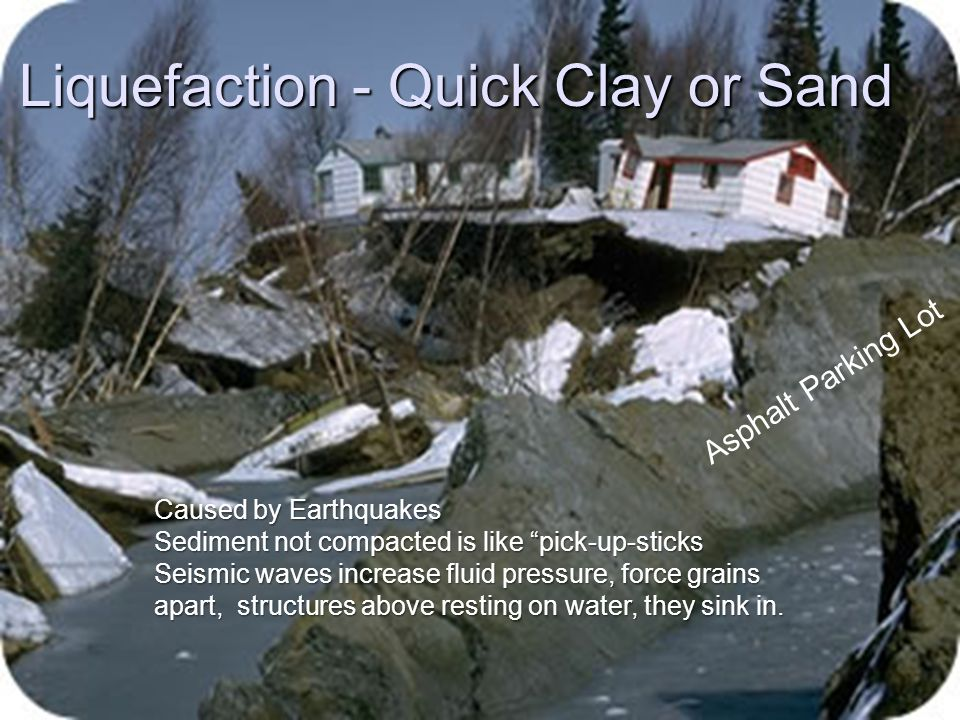 Liquefaction - Quick Clay or Sand