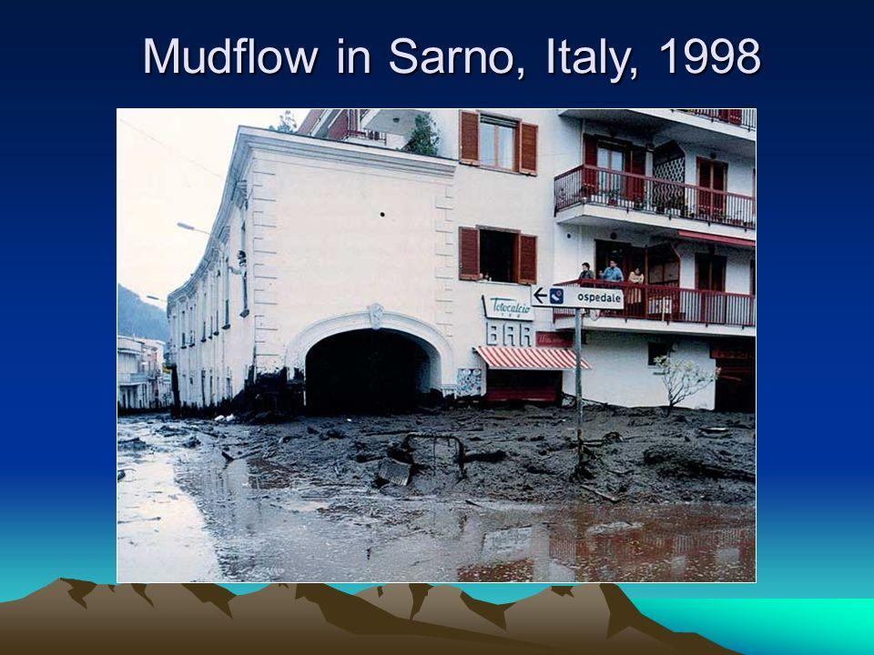 Mudflow in Sarno, Italy, 1998
