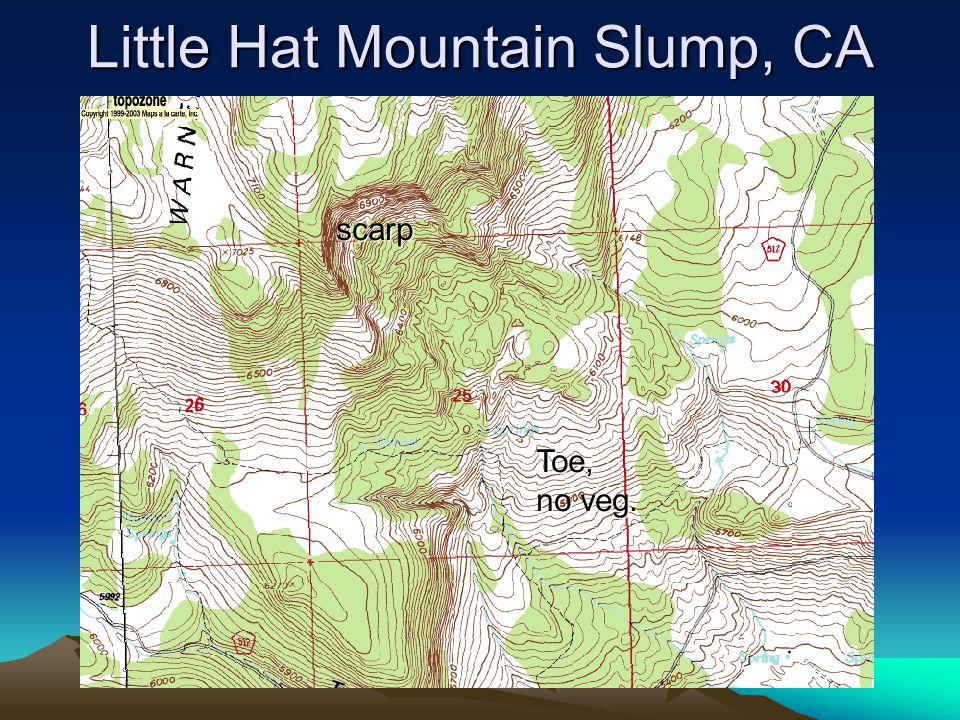 Little Hat Mountain Slump, CA