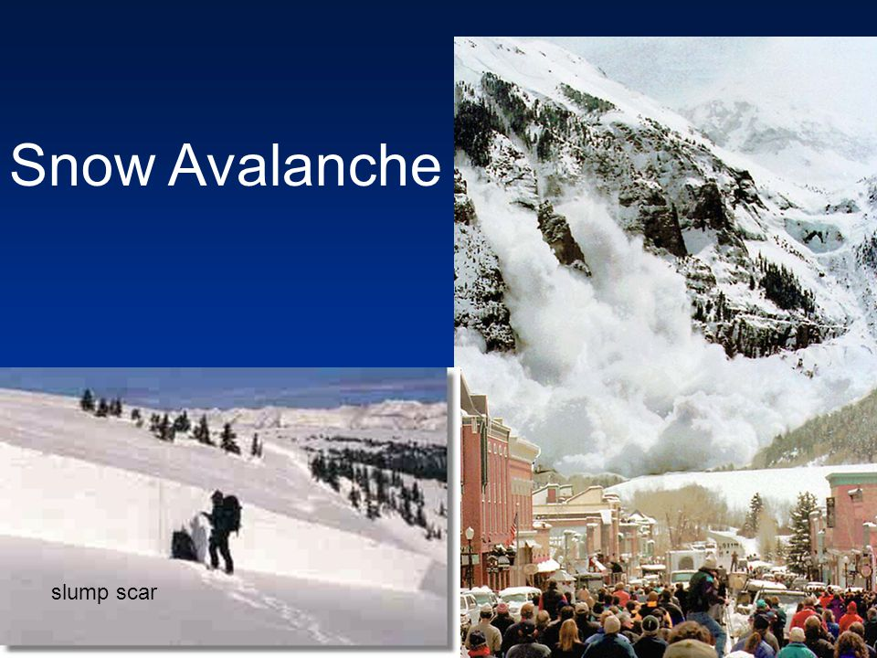 Snow Avalanche slump scar
