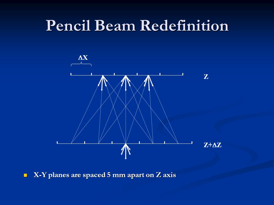 Pencil Beam Redefinition
