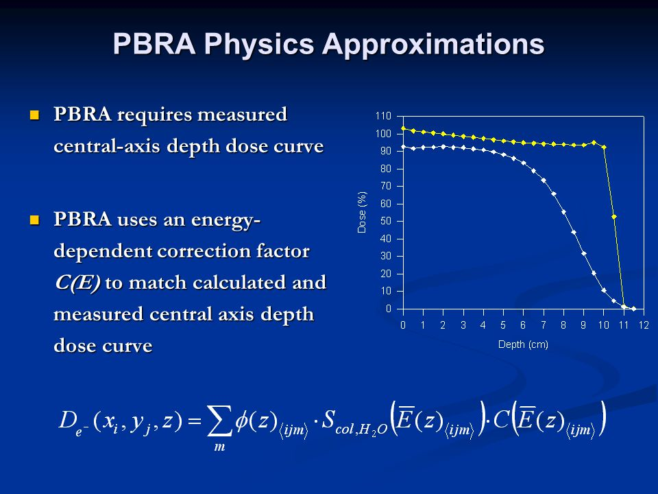 PBRA Physics Approximations