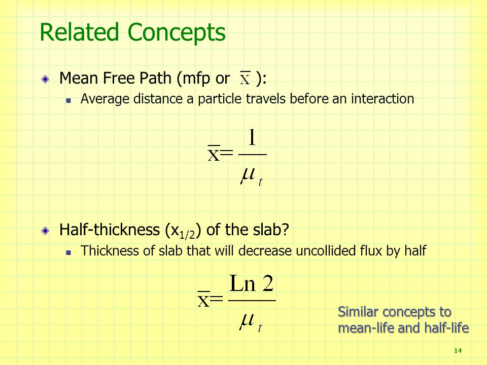 Related Concepts Mean Free Path (mfp or ):